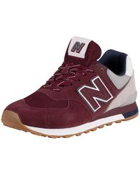 New Balance 574 Suede Trainers - Multicolour