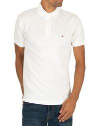 Tommy Hilfiger Placket Regular Polo Shirt - White