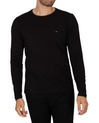 Tommy Hilfiger Stretch Slim Fit Longsleeved T-shirt - Black