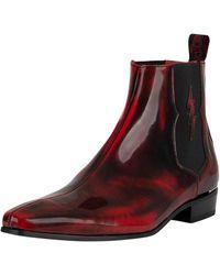 Jeffery West - Polished Leather Lightning Chelsea Boots - Lyst