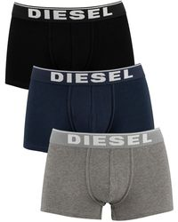 DIESEL 3 Pack All Timers Trunks - Grey