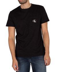 Calvin Klein Monogram Pocket T-shirt - Black