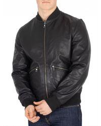 Tommy Hilfiger - Jet Black Reversible Lightweight Leather Jacket - Lyst