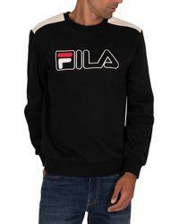 Fila Basil 2 Outline Embrd Sweatshirt - Black