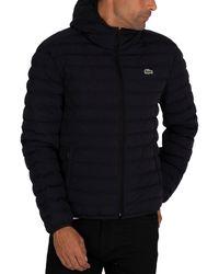 Lacoste Logo Puffer Jacket - Blue