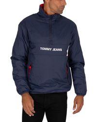 Tommy Hilfiger Reversible Popover Jacket - Blue