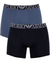 Emporio Armani 2 Pack Endurance Boxers - Blue