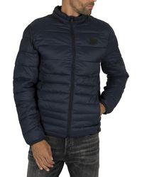 Jack & Jones Bomb Collar Puffer Jacket - Blue