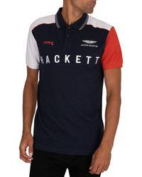 Hackett Amr Polo Shirt - Blue