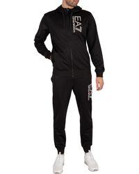 EA7 Jersey Tracksuit - Black