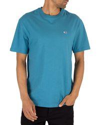 Tommy Hilfiger Contrast Neck Washed T-shirt - Blue