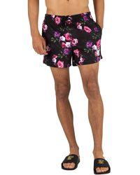 SIKSILK Standard Swim Shorts - Black