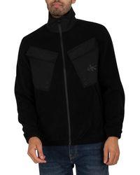 Calvin Klein Fleece Overshirt - Black