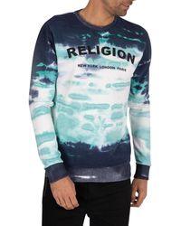 Religion Psycho Sweatshirt - Blue