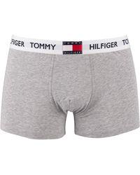 Tommy Hilfiger Flag Waistband Trunks - Grey