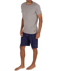 Lyle & Scott Charlie Lounge Pyjama Shorts Set - Grey
