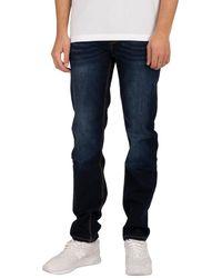 Luke 1977 Freddys Slim Straight Jeans - Blue