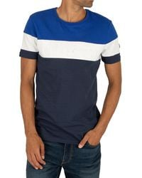 Ellesse Timavo T-shirt With Embossed Logo In Navy - Blue