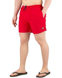 Fila - Chinese Red Martin Basic Swimshorts - Lyst