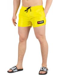 DIESEL - Yellow Sandy Swimshorts - Lyst