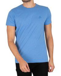 GANT Contrast Logo T-shirt - Blue