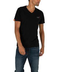 Superdry Orange Label Vintage Emb V-neck T-shirt - Black