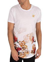 SIKSILK Curved Hem T-shirt - White