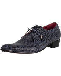Jeffery West Brogue Derby Leather Shoes - Blue