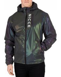 Nicce London Iridescent Vind Reflective Jacket - Multicolour