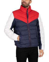 Tommy Hilfiger - Light Colourblock Padded Jacket - Lyst
