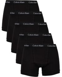 Calvin Klein 5 Pack Trunks - Black