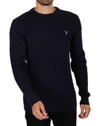 GANT Cotton Cable Knit - Blue