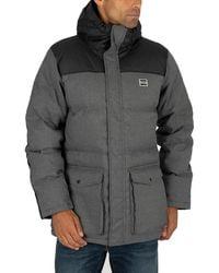 Levi's Down Puffer Parka Jacket - Grey
