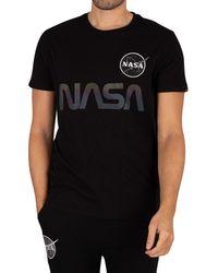 Alpha Industries Nasa Rainbow Ref T-shirt - Black