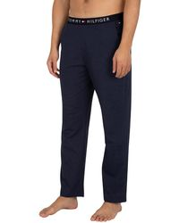 Tommy Hilfiger Logo Pyjama Bottoms - Blue