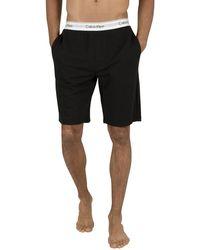 Calvin Klein Logo Waistband Sweat Shorts - Black