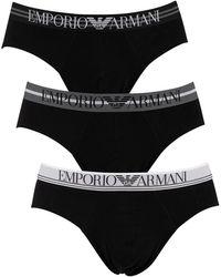 Emporio Armani 3 Pack Briefs - Black