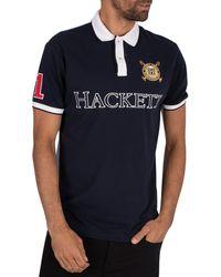 Hackett Logo Polo Shirt - Blue