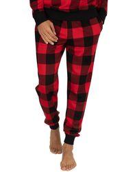Calvin Klein Check Pyjama Bottoms - Red