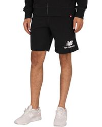 New Balance Essentials Stacked Logo Sweat Shorts - Black