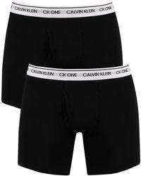 Calvin Klein 2 Pack Ck One Boxer Briefs - Black