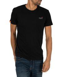 Superdry Orange Label Vintage Emb T-shirt - Black