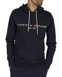 Tommy Hilfiger Tommy Logo Hoodie - Blue