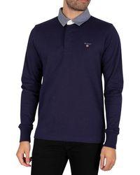 GANT The Original Heavy Rugger Longsleeved Polo Shirt - Blue