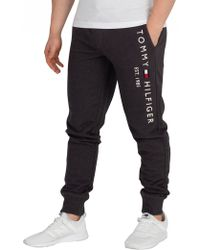 Tommy Hilfiger - Charcoal Heather Basic Branded Joggers - Lyst