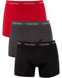 Calvin Klein 3 Pack Trunks - Black
