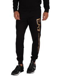 EA7 Branded Sweatpants - Black
