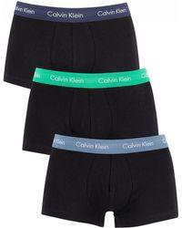 Calvin Klein Blue/tourney/indigo 3 Pack Low Rise Trunks