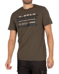 G-Star RAW Originals Stripe Logo T-shirt - Multicolour