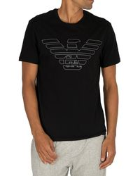 Emporio Armani Graphic Lounge T-shirt - Black